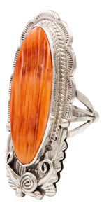 Navajo Native American Spiny Oyster Shell Ring Size 8 3/4 by Alfred Martinez SKU231942