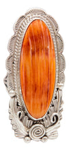 Load image into Gallery viewer, Navajo Native American Spiny Oyster Shell Ring Size 8 3/4 by Alfred Martinez SKU231942