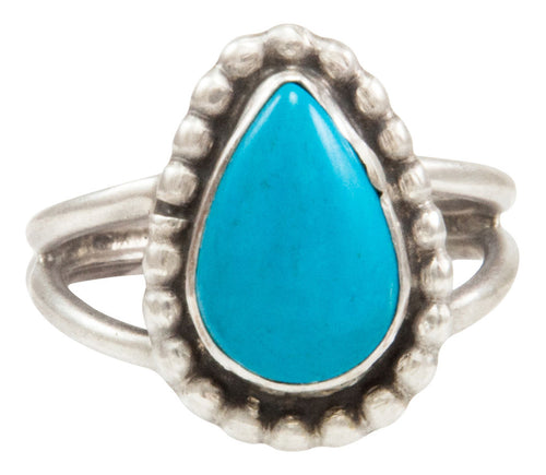 Navajo Native American Kingman Turquoise Ring Size 7 by Ella Cowboy SKU231953