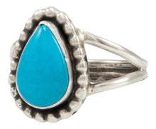 Load image into Gallery viewer, Navajo Native American Kingman Turquoise Ring Size 8 by Ella Cowboy SKU231956