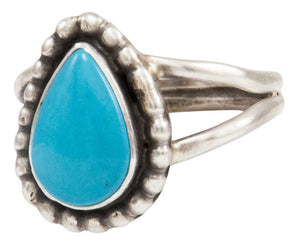 Navajo Native American Kingman Turquoise Ring Size 8 by Ella Cowboy SKU231957