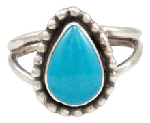 Load image into Gallery viewer, Navajo Native American Kingman Turquoise Ring Size 8 by Ella Cowboy SKU231957