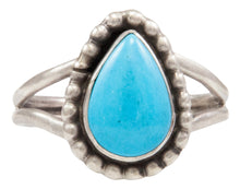 Load image into Gallery viewer, Navajo Native American Kingman Turquoise Ring Size 9 by Ella Cowboy SKU231958