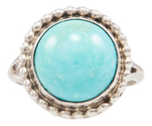 Load image into Gallery viewer, Navajo Native American Kingman Turquoise Ring Size 7 by Darryl Livingston SKU231960