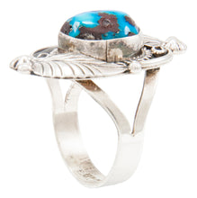 Load image into Gallery viewer, Navajo Native American Kingman Turquoise Ring Size 9 by Emma Linkin SKU231966
