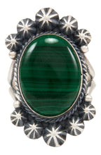 Load image into Gallery viewer, Navajo Native American Malachite Ring Size 9 1/4 by Calladitto SKU231981