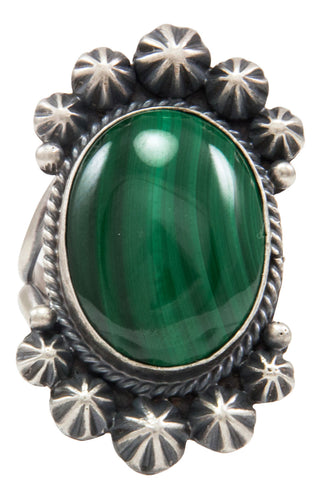 Navajo Native American Malachite Ring Size 7 by Calladitto SKU231982