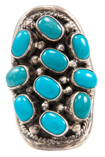 Navajo Native American Kingman Turquoise Ring Size 8 3/4 by Touchine SKU231986