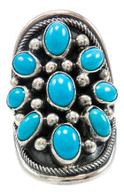 Load image into Gallery viewer, Navajo Native American Kingman Turquoise Ring Size 6 by Paul Livingston SKU231988