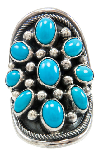 Navajo Native American Kingman Turquoise Ring Size 6 by Paul Livingston SKU231988