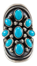 Load image into Gallery viewer, Navajo Native American Kingman Turquoise Ring Size 5 by Paul Livingston SKU231989