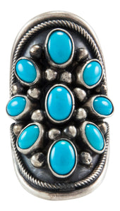 Navajo Native American Kingman Turquoise Ring Size 5 by Paul Livingston SKU231989