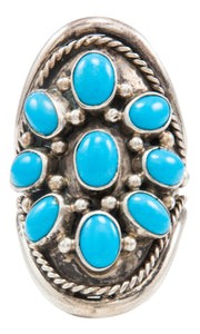 Navajo Native American Kingman Turquoise Ring Size 7 3/4 by Albert Platero SKU231990