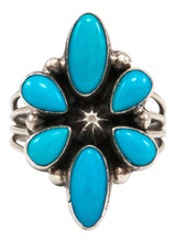 Load image into Gallery viewer, Navajo Native American Sleeping Beauty Turquoise Ring Size 7 by Linkin SKU231991