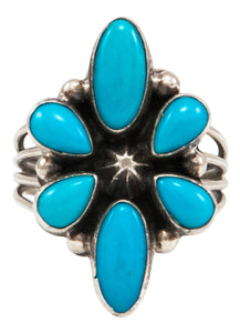 Navajo Native American Sleeping Beauty Turquoise Ring Size 7 by Linkin SKU231991