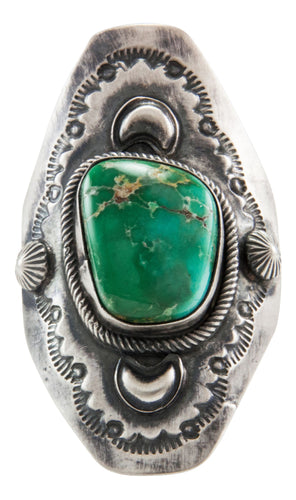 Navajo Native American Broken Arrow Turquoise Ring Size 7 by Bobby Johnson SKU231997
