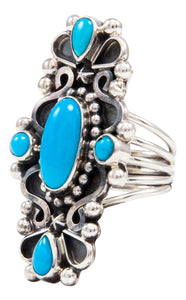 Navajo Native American Sleeping Beauty Turquoise Ring Size 5 3/4 by Kathleen Chavez SKU232013