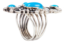 Load image into Gallery viewer, Navajo Native American Sleeping Beauty Turquoise Ring Size 5 3/4 by Kathleen Chavez SKU232013