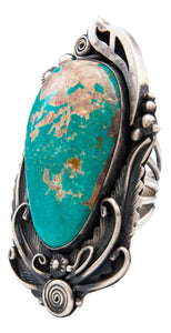 Navajo Native American Royston Turquoise Ring Size 8 3/4 by Jimmy Lee SKU232017