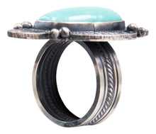 Load image into Gallery viewer, Navajo Native American Kingman Turquoise Ring Size 7 1/4 by Calladitto SKU232027