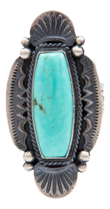 Navajo Native American Kingman Turquoise Ring Size 7 1/4 by Calladitto SKU232027