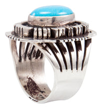 Load image into Gallery viewer, Navajo Native American Kingman Turquoise Ring Size 6 1/2 by Gary Spencer SKU232038