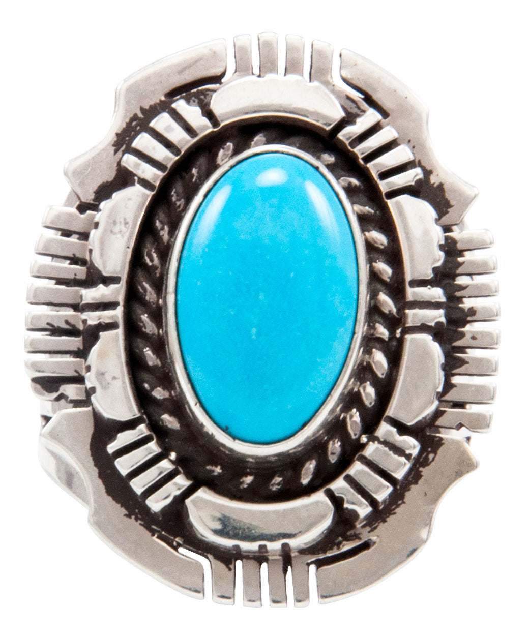 Navajo Native American Kingman Turquoise Ring Size 6 1/2 by Gary Spencer SKU232038