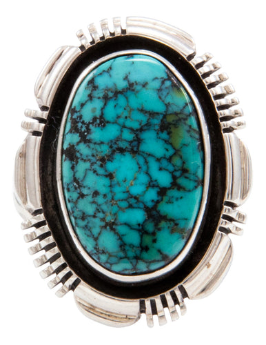 Navajo Native American Indian Mountain Turquoise Ring Size 6 3/4 by Marvin McReeves SKU232039