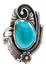 Load image into Gallery viewer, Navajo Native American Kingman Turquoise Ring Size 5 1/2 by Lorenzo Juan SKU232053