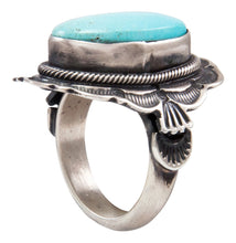 Load image into Gallery viewer, Navajo Native American Kingman Turquoise Ring Size 5 3/4 by Lorenzo Juan SKU232055