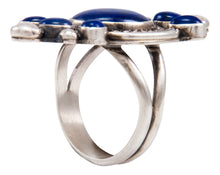 Load image into Gallery viewer, Navajo Native American Lapis Ring Size 10 1/2 by RRB SKU232056