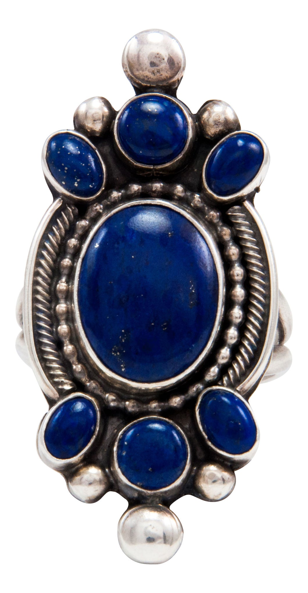 Navajo Native American Lapis Ring Size 10 1/2 by RRB SKU232056