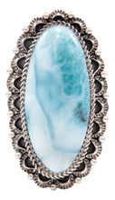 Load image into Gallery viewer, Navajo Native American Larimar Ring Size 9 by Darren Livingston SKU232060