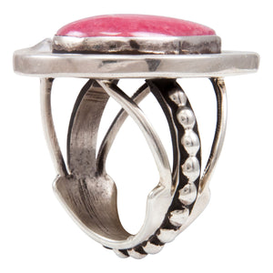 Navajo Native American Rose Quartz Ring Size 11 3/4 by Phil Garcia SKU232061