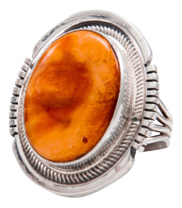 Navajo Native American Spiny Oyster Shell Ring Size 5 1/4 by Kevin Willie SKU232075