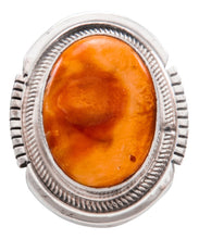 Load image into Gallery viewer, Navajo Native American Spiny Oyster Shell Ring Size 5 1/4 by Kevin Willie SKU232075