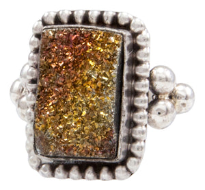 Navajo Native American Druzy Ring Size 6 by Ella Cowboy SKU232086
