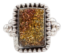 Load image into Gallery viewer, Navajo Native American Druzy Ring Size 6 by Ella Cowboy SKU232086