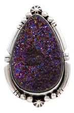 Load image into Gallery viewer, Navajo Native American Druzy Ring Size 7 by Ernest Alviso SKU232087