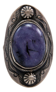 Navajo Native American Charoite Ring Size 7 by Danny Clark SKU232095