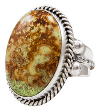 Load image into Gallery viewer, Navajo Native American Gaspeite Ring Size 9 1/2 by Roy Tom SKU232097