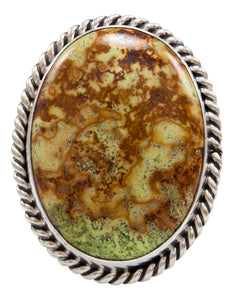 Navajo Native American Gaspeite Ring Size 9 1/2 by Roy Tom SKU232097