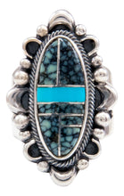 Load image into Gallery viewer, Navajo Native American Turquoise Inlay Ring Size 6 3/4 by Danny Clark SKU232100