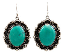 Load image into Gallery viewer, Navajo Native American Kingman Turquoise Earrings by Delbert Delgarito SKU232107