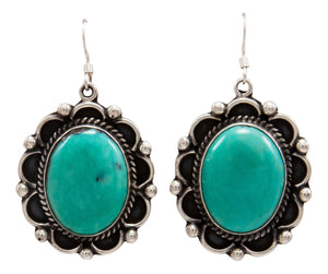 Navajo Native American Kingman Turquoise Earrings by Delbert Delgarito SKU232107