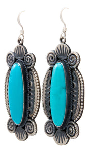 Navajo Native American Kingman Turquoise Earrings by Calladitto SKU232123