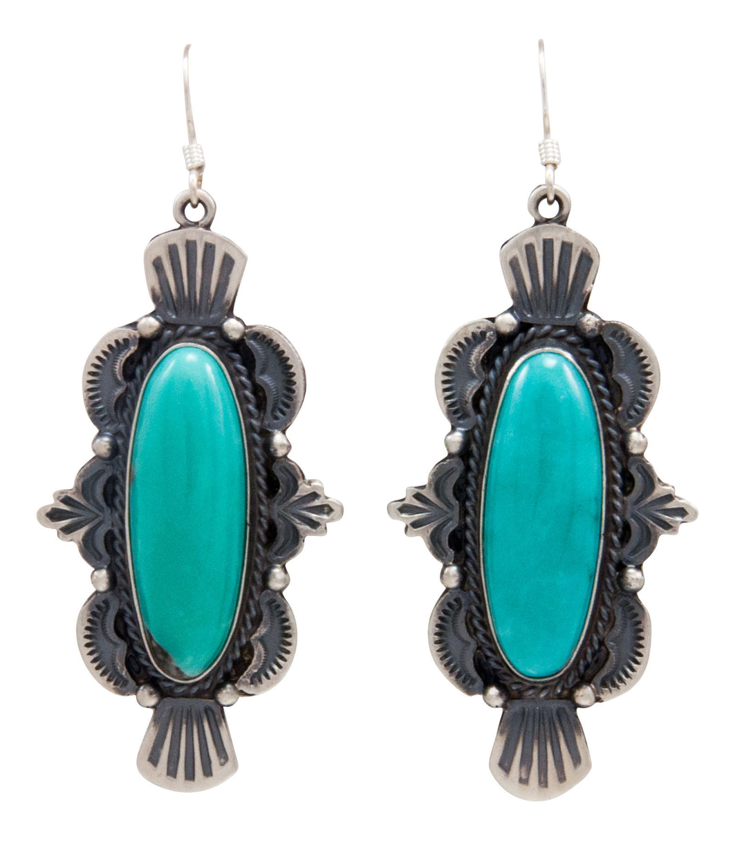 Navajo Native American Kingman Turquoise Earrings by Calladitto SKU232126