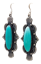 Load image into Gallery viewer, Navajo Native American Kingman Turquoise Earrings by Calladitto SKU232127