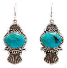 Load image into Gallery viewer, Navajo Native American Kingman Turquoise Earrings by Calladitto SKU232128