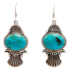 Navajo Native American Kingman Turquoise Earrings by Calladitto SKU232128